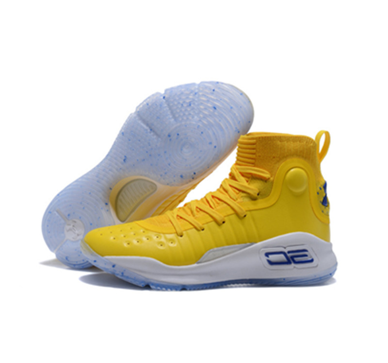 UA Curry 4 Yellow White