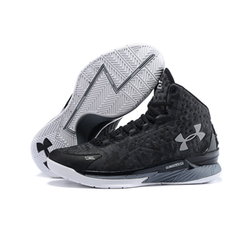 Under Armour Stephen Curry 1 Shoes black gray white