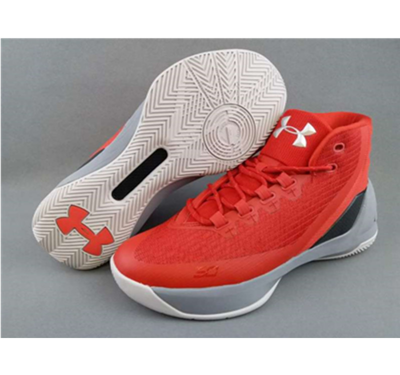 Under Armour Stephen Curry 3 Shoes red white