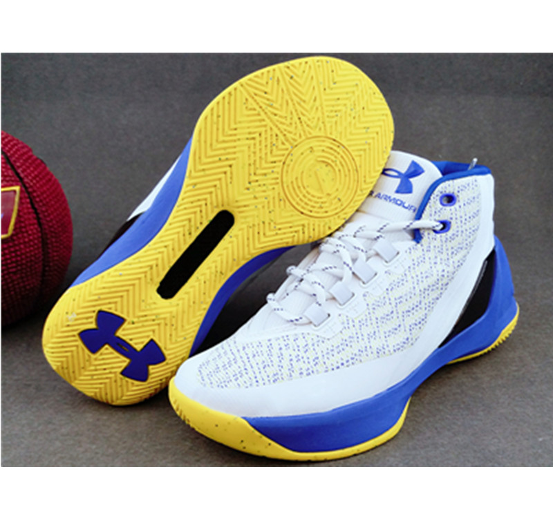 Under Armour Stephen Curry 3 Shoes white blue