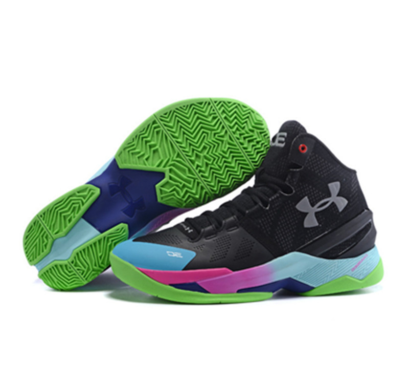 Under Armour Stephen Curry 2 Shoes Black White Red Blue