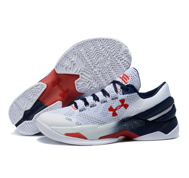 Under Armour Stephen Curry 2 Low white red