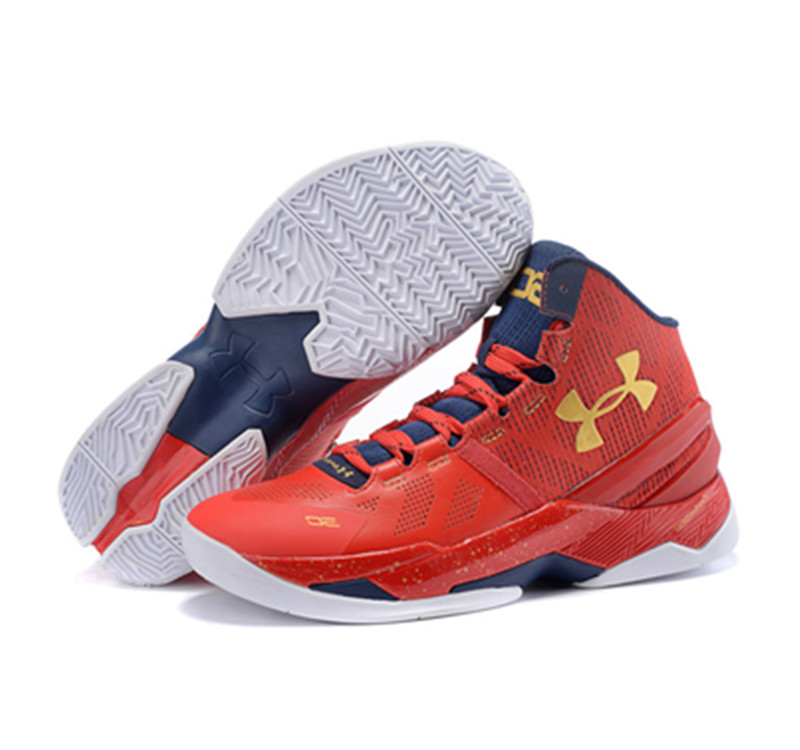Under Armour Stephen Curry 2 Shoes Father And Son Red