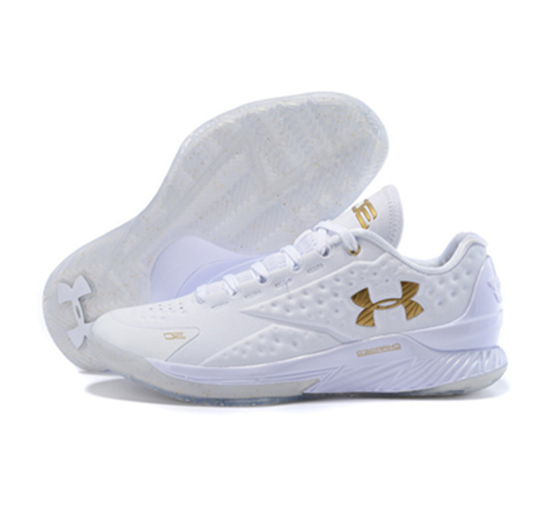 Under Armour ClutchFit Drive Low Stephen Curry Shoes Gold White