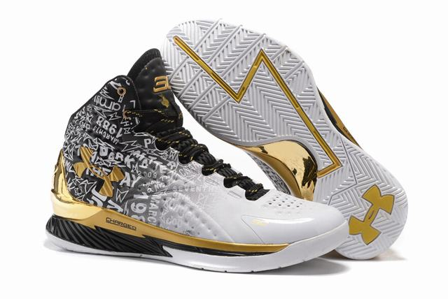 Curry 2 Shoes High MVP White Black Gold