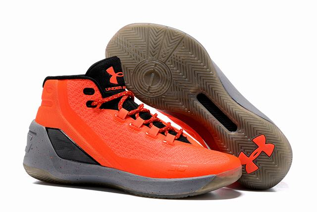 Curry 3 Shoes Orange Black