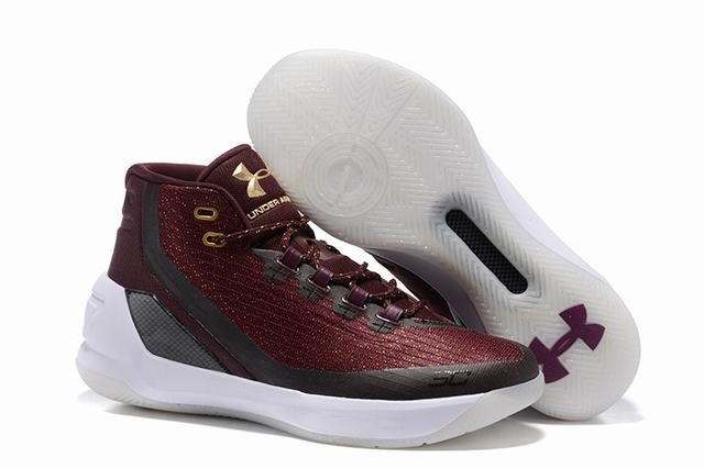 Curry 3 Shoes Wine Red