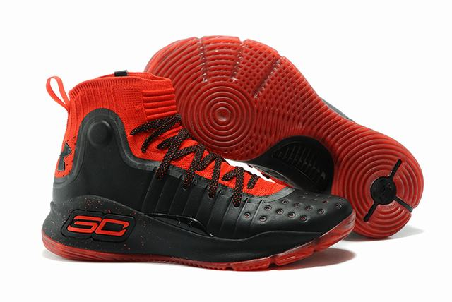 Curry 4 Shoes High Black Red
