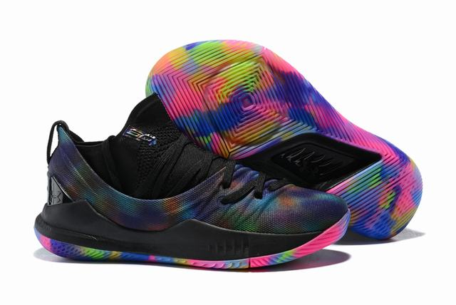 Curry 5 Shoes Black Rainbow