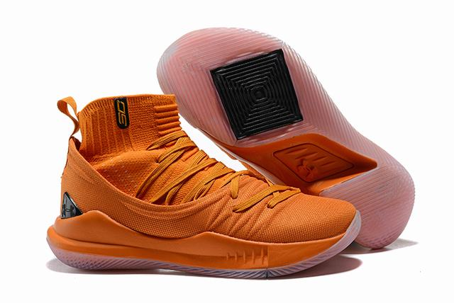 Curry 5 Shoes High Cavaliers Orange