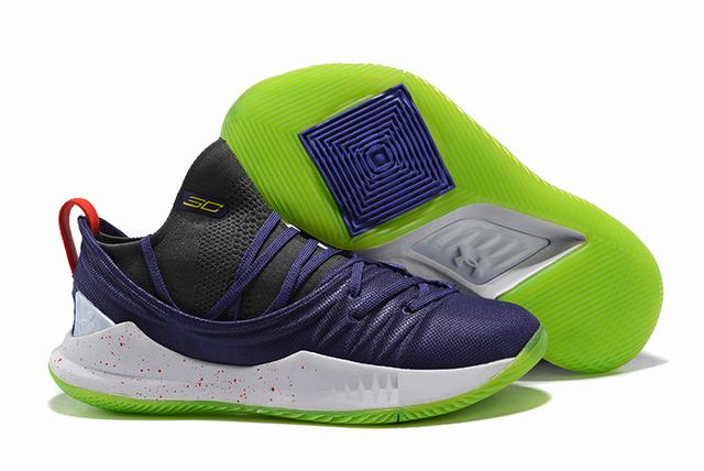 Curry 5 Shoes Purple Green