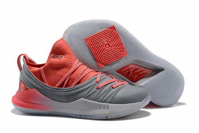 Curry 5 Shoes Watermelon Grey
