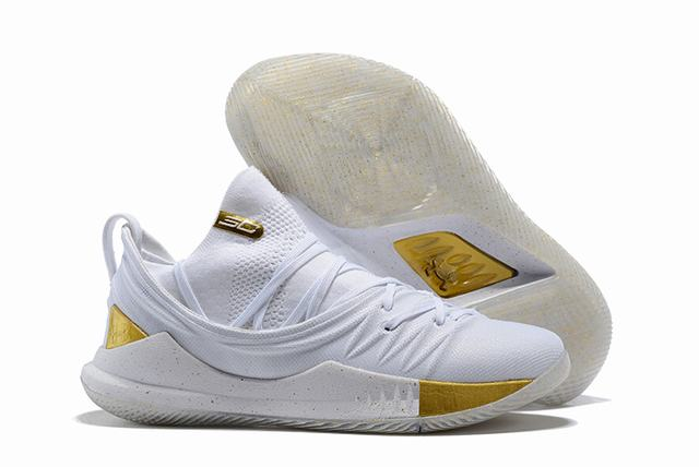 Curry 5 Shoes White Gold