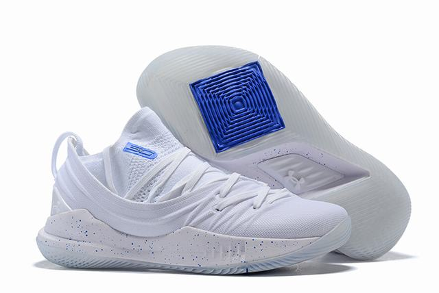 Curry 5 Shoes White Royal Blue