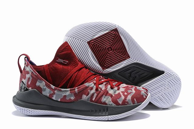 Curry 5 Shoes Wine Red