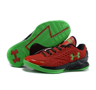 Under Armour ClutchFit Drive Low Stephen Curry Shoes Red Black Green