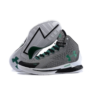 Under Armour Stephen Curry 1 Shoes Black Gray Green