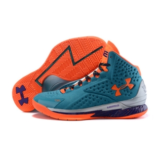 Under Armour Stephen Curry One Shoes Blue Orange
