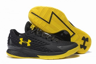 Curry 1 Shoes Low Champion Black Yellow
