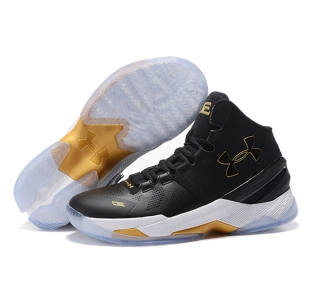 Under Armour Stephen Curry 2 Shoes Black Gold