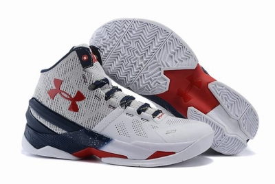 Curry 2 Shoes High White Blue Red