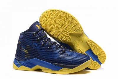Curry 2.5 Shoes Dark Blue Yellow