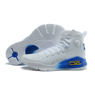 UA Stephen Curry 4 high White Blue