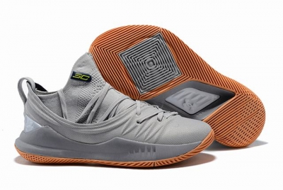Curry 5 Shoes Grey Orange