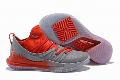 Curry 5 Shoes Grey Red