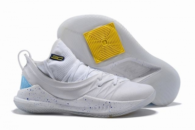 Curry 5 Shoes White Silver