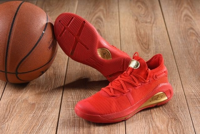 Curry 6 Shoes Low Red Gold